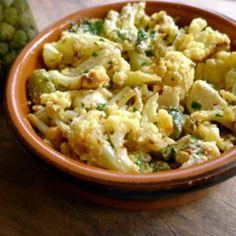 Oven Roasted Cauliflower With Gruyere Cheese Sauce Recipe.
