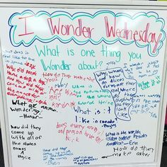 I Wonder Wednesday-white board messages Classroom Organization, Classroom Management, Classroom Whiteboard, Interactive Whiteboard, Class Management, Classroom Ideas, Question Of The Day, This Or That Questions, Morning Board