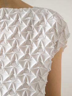 Issey Miyake prism textured dress