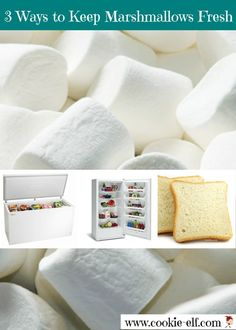 Three ways to keep marshmallows fresh after you've opened a bag to use in a cookie recipe but have not used them all.
