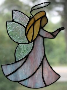 Stained Glass Angel Suncatcher by OnlineGlass