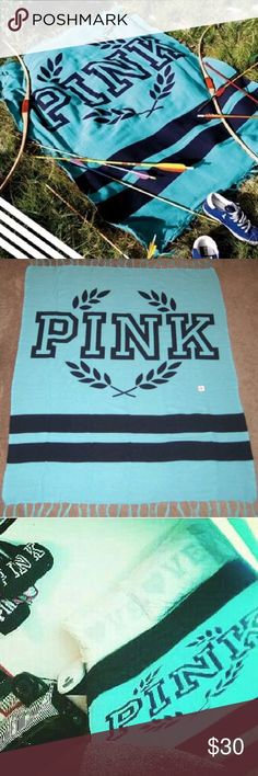 Victoria's Secret PINK Festival throw blanket In great condition, only selling because I switched up my colors and decor, I loveee this blanket :) PINK Victoria's Secret Other