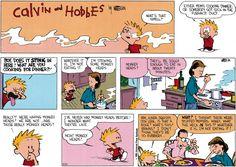 Calvin and Hobbes June 01, 1986 - monkey heads