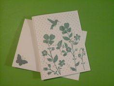 Close Up of Wildflower Meadow Notecard with hidden butterflies and Matching Envelope