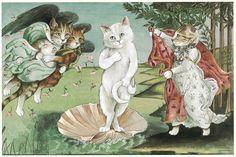 Dalla Monna Lisa alla Ragazza con l'orecchino di perla: i più famosi dipinti reinterpretati con i gatti