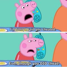 THEN, she called Suzy and gave her the worst apology I've ever heard. 17 Times Peppa Pig Was Just An Absolute Savage George Pig, Baby George, Peppa Pig Funny, Peppa Pig Cartoon, Peppa Pig Memes, Really Funny Memes, Stupid Funny Memes, Funny Relatable Memes, Ghetto Meme