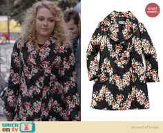 Carrie's black floral coat on The Carrie Diaries. Outfit Details: http://wornontv.net/25123 #TheCarrieDiaries #fashion