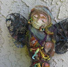 ZEN Boho  OOAK  Gratitude Spirit Art Doll  Skelleton Key, Assemblage by Griselda via Etsy