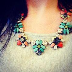 Mixed Stone Statement Necklace | Elodie Necklace | Stella & Dot  www.stelladot.com/samanthajacob
