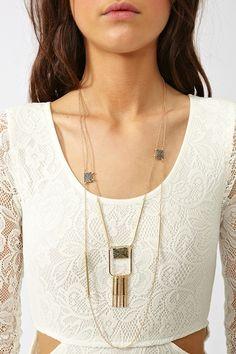 Hanging Fringe Necklace