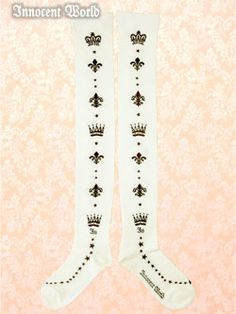 Innocent World - Lisette Overknee Socks - beige x chocolat