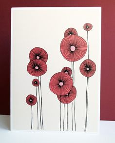 Flowers - Illustration, Print I want to paint a bowl with poppies like this. want to paint a bowl with poppies like this. Art And Illustration, Flower Illustration Pattern, Flower Illustrations, Plant Drawing, Painting & Drawing, Drawing Flowers, Flower Drawings, Doodle Art, Poppies