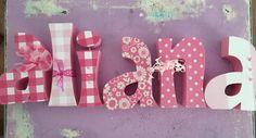 Custom wood letters. Wood letters. Nursery door KSCraftCreations