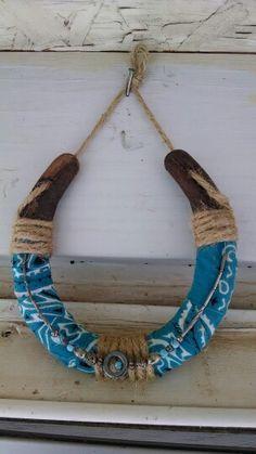 Horse shoe with bandana