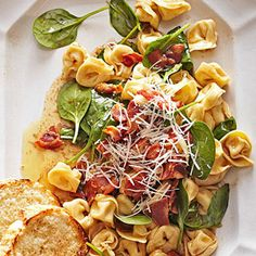 Three-Cheese Tortellini in Brown Butter Sauce From Better Homes and Gardens, ideas and improvement projects for your home and garden plus recipes and entertaining ideas.