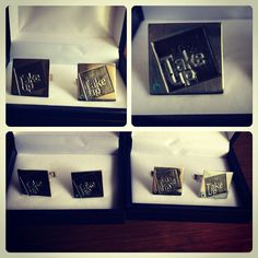 Colleras de plata, diseño Empresa Take Up #hechura #hechoamano / Silver Cufflinks, Company Design #hechura #handmade