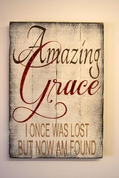 Amazing Grace Distressed Wood Sign Pallet Wood by RusticlyInspired