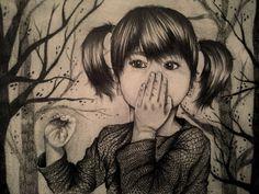 Drawing a fairy tale by Paula Duță, via Behance