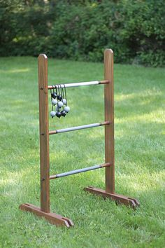 This DIY ladder golf game will provide plenty of fun at tailgates and cookouts. Create your own ladder golf game using lumber, rope and golf balls.