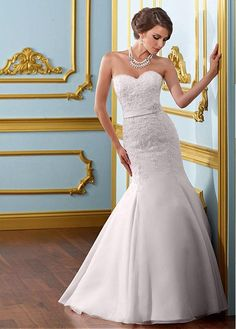 GLAMOROUS ORGANZA SATIN MERMAID SWEETHEART NECKLINE NATURAL WAISTLINE WEDDING DRESS FORMAL PROM EVENING PARTY GOWN