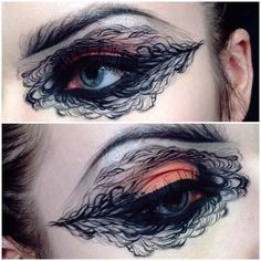 She reveals various versions of paint stroke-like eyebrows with gliding applications of eye color... Read more: http://blog.furlesscosmetics.com/ida-elina/