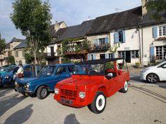 Vintage car show in Najac, France