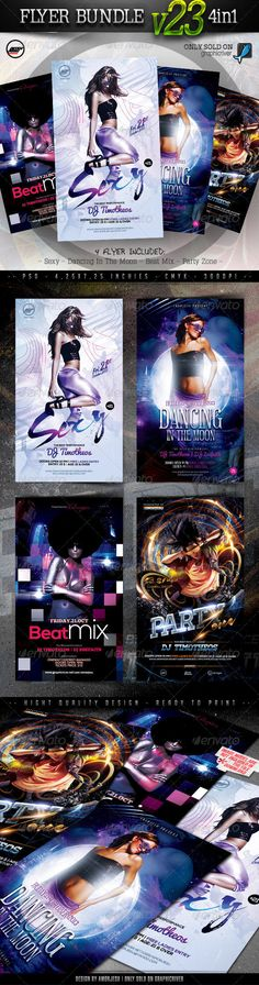 4 Sexy Flyer PSD Templates • Only available here ➝ http://graphicriver.net/item/flyer-bundle-vol23-4-in-1/6043536?ref=pxcr
