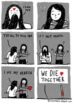Aku dan Tabela: We Die Together http://akudantabela.blogspot.com/ #comic #love