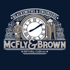 """""""McFly & Brown"""" by Doodle Dojo is $10 today at ShirtPunch.com (07/27). #tshirt #BacktotheFuture #MartyMcFly #EmmettBrown #DocBrown #TimeTravel #Scifi"""