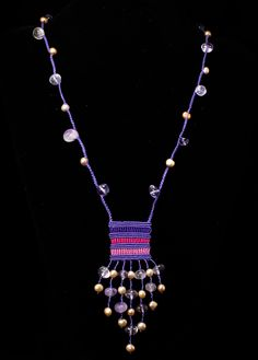 Micro macrame necklaces by Nadja Shields. Visit Imbali Crafts for marcame…