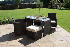 The cube set is Maze Rattans answer to limited space with maximum functionality. The Maze Rattan Balcony Cube Set is the smallest of all the cube sets because it is designed for limited spaces such as balconies or small patio gardens while keeping the space around the set optimised