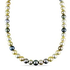 Cultured South Sea and Tahitian Pearl Graduated Strand Necklace with 14K Gold Clasp - Save on Select Styles - Zales