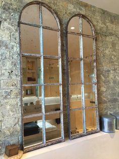17 Outstanding DIY Window Mirrors That Are Going To Inspire You decoration design Arched Window Mirror, Arch Mirror, Arched Windows, Old Windows, Diy Mirror, Window Frames, Windows And Doors, Window Mirror Decor, Windows Decor