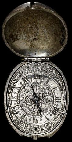 "themagicfarawayttree: ""Watch by Henry Grendon, England, made ca. 1630 ~ Victoria & Albert Metalwork """