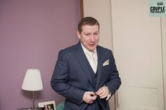 The groom looking slick on the morning of the wedding. Weddings at Tulfarris Hotel Photographed by Couple Photography.