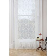 Ailsa Ivory Lace Panel, proudly woven in the UK