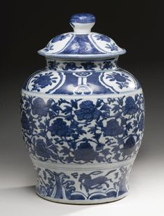 A BLUE AND WHITE BALUSTER JAR AND COVER, MING DYNASTY✖️No Pin Limits✖️More Pins Like This One At FOSTERGINGER @ Pinterest✖️