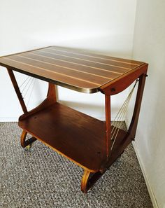 Vintage Mid Century Serving Rolling Bar Cart Tea by dadacat