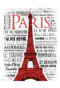 Paris White & Red