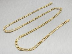 14kt Yellow Gold Figaro Chain 2.5 mm Width 7.0 Inch Long (1.9 Grams) by RG&D