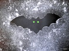 Tippytoe Crafts: Bats, with black paper and paint in a spray bottle