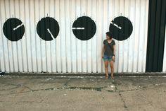 Mural na tyłach NCK-u / street art w Nowej Hucie