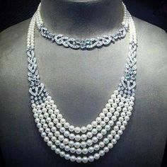 Angeloxdexluca. Enchanting diamonds and pearls necklace by @cartier.  Unforgettable beauty. Astonishing Glamor. Timeless jewel.