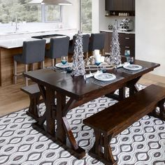 Perfect Chateau Ext Dining Table  Chestnut; Love That Rug