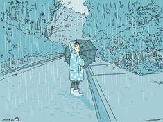 #こどもとうちで過ごそう 05 足元を水がザーザー流れる大雨の中傘さして、ずぶ濡れなって家のまわりを散歩してみる。 The Rev, Knight, Old Things, Cavalier, Knights