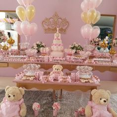 Today I'll share with you the best ideas from 3 year old girl theme parties, as well as ideas from decoration birthday girldecoration birthday girl 3 Teddy Bear Party, Teddy Bear Birthday, 1st Birthday Girls, Princess Birthday, Birthday Parties, Shower Bebe, Girl Shower, Baby Shower Themes, Baby Shower Decorations
