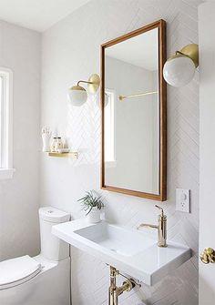 Decoração: Espelho no banheiro