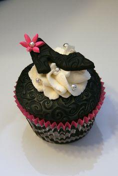 high heel shoeon a cupcake