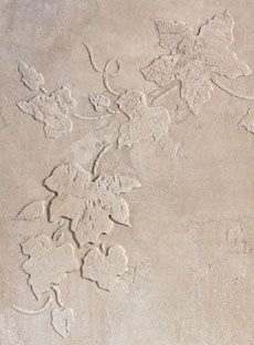 diy stenciling with spackle - a plastic ivy stencil, then add a wash a few shades darker in color than the wall color, absolutely gorgeous. Including link for stencils/supplies.