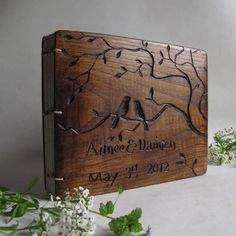 Personalized wedding guest books Custom made book by lacunawork, €70.00